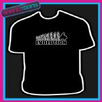 EVOLUTION MONKEY TO QUAD BIKING BIKE COOL TSHIRT